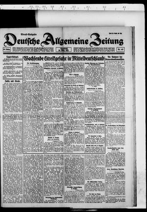 Deutsche allgemeine Zeitung vom 26.03.1921