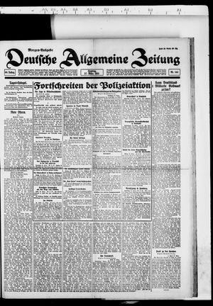 Deutsche allgemeine Zeitung vom 27.03.1921