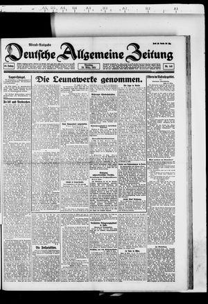 Deutsche allgemeine Zeitung vom 29.03.1921