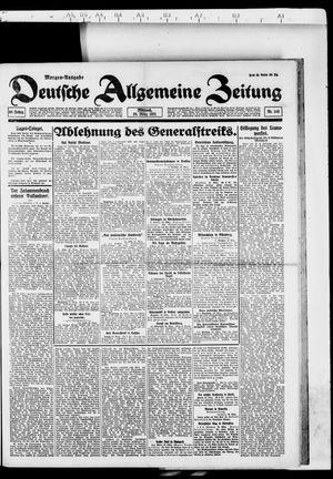 Deutsche allgemeine Zeitung vom 30.03.1921