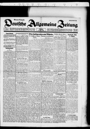 Deutsche allgemeine Zeitung vom 03.04.1921