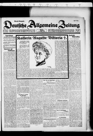 Deutsche allgemeine Zeitung vom 11.04.1921