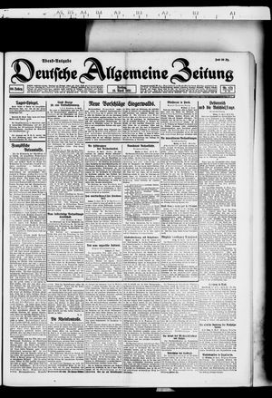 Deutsche allgemeine Zeitung vom 15.04.1921