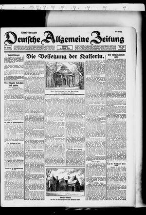 Deutsche allgemeine Zeitung vom 19.04.1921
