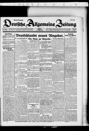 Deutsche allgemeine Zeitung vom 26.04.1921