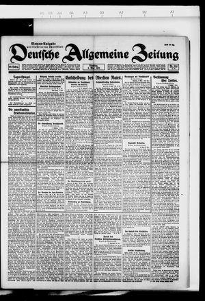 Deutsche allgemeine Zeitung vom 03.05.1921