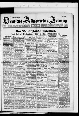 Deutsche allgemeine Zeitung vom 06.05.1921