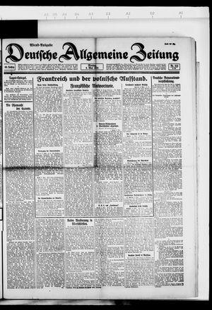 Deutsche allgemeine Zeitung vom 09.05.1921