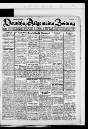 Deutsche allgemeine Zeitung vom 11.05.1921