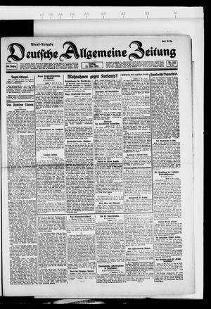 Deutsche allgemeine Zeitung vom 13.05.1921