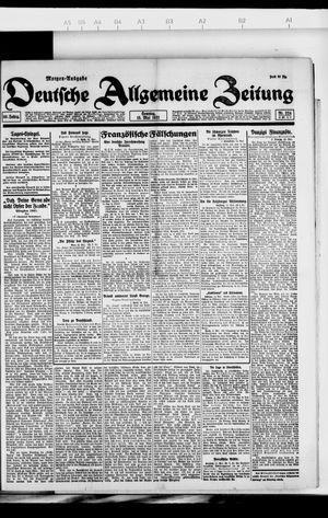 Deutsche allgemeine Zeitung vom 15.05.1921