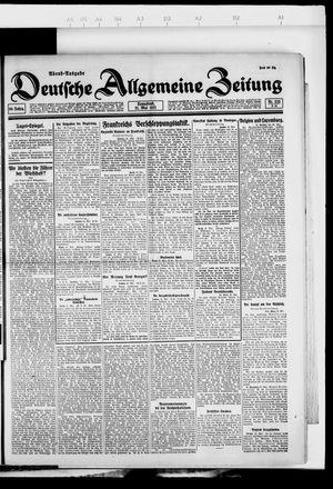 Deutsche allgemeine Zeitung vom 21.05.1921