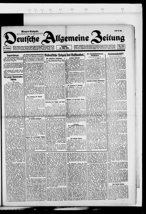 Deutsche allgemeine Zeitung vom 22.05.1921