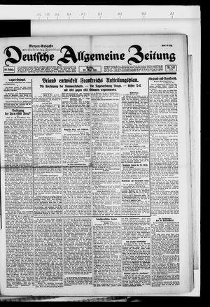 Deutsche allgemeine Zeitung on May 27, 1921