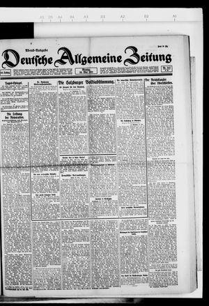 Deutsche allgemeine Zeitung vom 30.05.1921