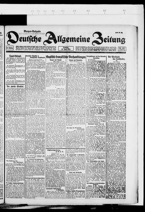 Deutsche allgemeine Zeitung vom 19.06.1921