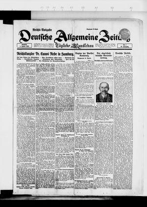 Deutsche allgemeine Zeitung on Jan 3, 1923