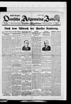 Deutsche allgemeine Zeitung vom 06.01.1923