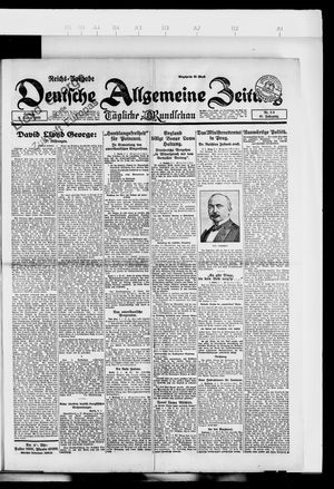 Deutsche allgemeine Zeitung vom 07.01.1923