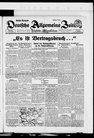 Deutsche allgemeine Zeitung vom 11.01.1923