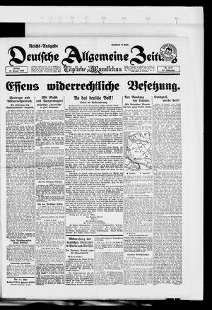 Deutsche allgemeine Zeitung on Jan 12, 1923