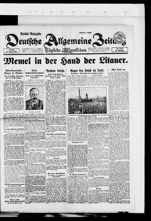 Deutsche allgemeine Zeitung vom 16.01.1923