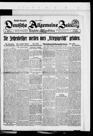 Deutsche allgemeine Zeitung vom 19.01.1923