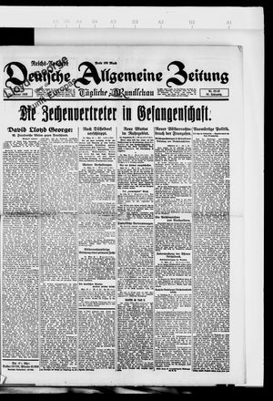 Deutsche allgemeine Zeitung vom 21.01.1923
