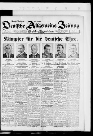 Deutsche allgemeine Zeitung vom 23.01.1923