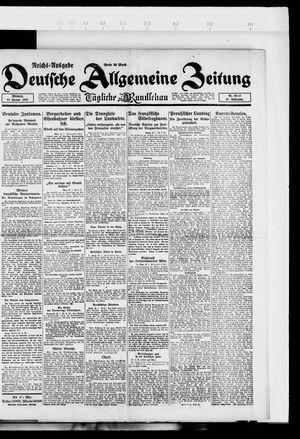 Deutsche allgemeine Zeitung on Jan 24, 1923