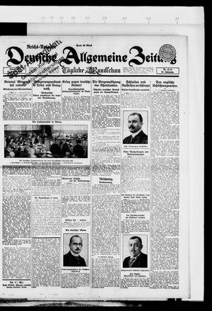 Deutsche allgemeine Zeitung vom 27.01.1923