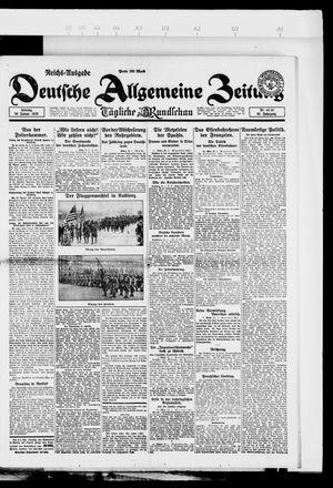 Deutsche allgemeine Zeitung vom 28.01.1923