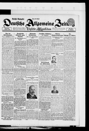 Deutsche allgemeine Zeitung on Feb 1, 1923