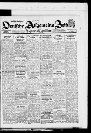 Deutsche allgemeine Zeitung vom 10.02.1923