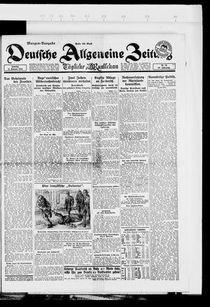 Deutsche allgemeine Zeitung vom 11.02.1923