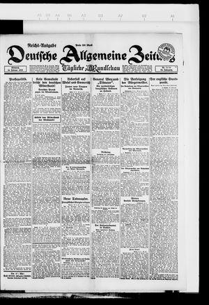 Deutsche allgemeine Zeitung vom 14.02.1923