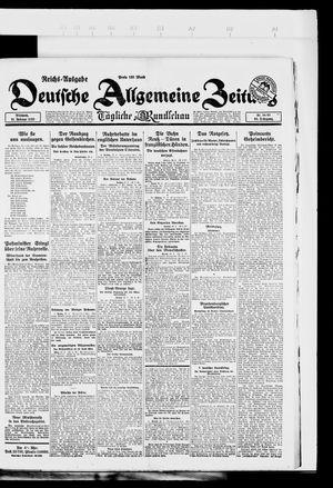 Deutsche allgemeine Zeitung vom 21.02.1923