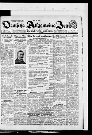 Deutsche allgemeine Zeitung vom 22.02.1923