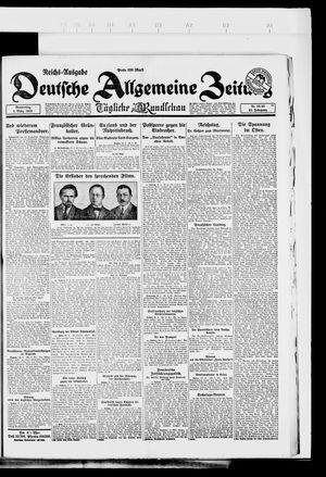 Deutsche allgemeine Zeitung vom 01.03.1923