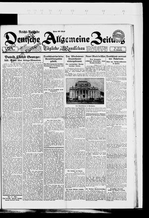 Deutsche allgemeine Zeitung vom 20.03.1923