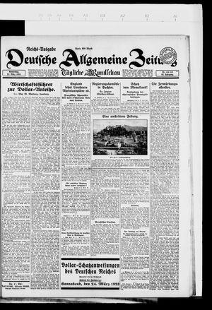Deutsche allgemeine Zeitung vom 22.03.1923