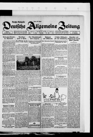 Deutsche allgemeine Zeitung vom 29.04.1923