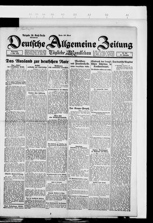 Deutsche allgemeine Zeitung vom 03.05.1923