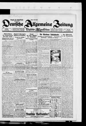 Deutsche allgemeine Zeitung vom 06.05.1923