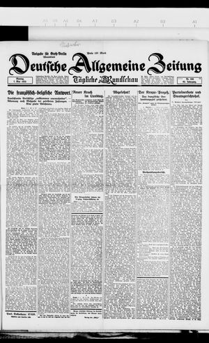 Deutsche allgemeine Zeitung vom 07.05.1923