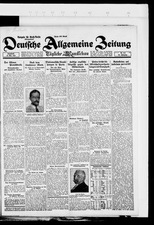 Deutsche allgemeine Zeitung on May 12, 1923