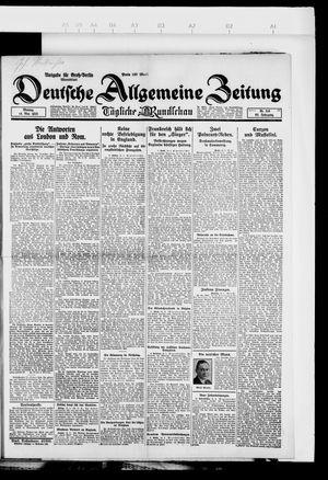 Deutsche allgemeine Zeitung vom 14.05.1923