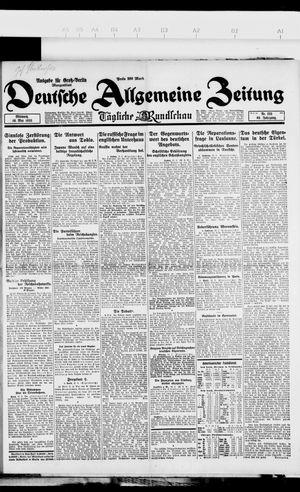 Deutsche allgemeine Zeitung vom 16.05.1923