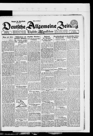 Deutsche allgemeine Zeitung vom 19.05.1923