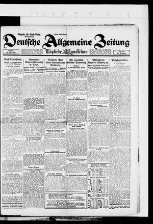 Deutsche allgemeine Zeitung vom 20.05.1923